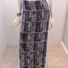 MICHAEL Kors Blue Navy Long Stretch Knit Rayon Skirt Size S