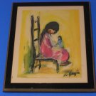 "Ted De Grazia Laminated Print Wall Plaque  ""I Cry"" 5"" x 7'"