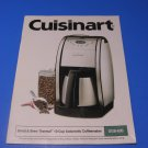 Cuisinart Coffee Maker DGB-600 Grind & Brew Thermal 10 Cup Manual