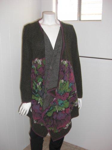 Mushka by Sienna Rose Inc Open Draped Tunic Sweater Sz L