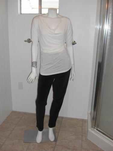 Rubicon White Open Forearm Blouse Size Large