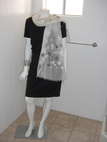 White Scarf Wrap Shearling Warm Soft Touch