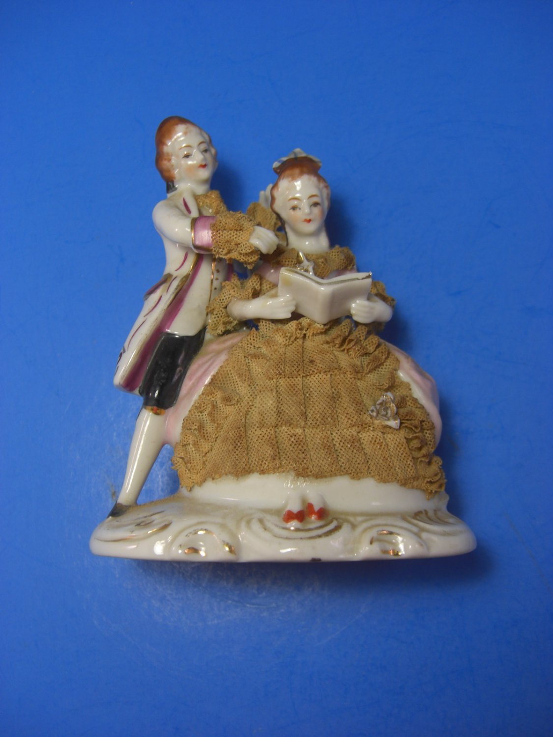 Vintage Hand Painted Victorian Lady Figurine with ...