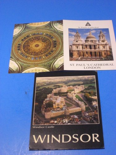 Windsor Castle & St Paul's Cathedral London Postcards