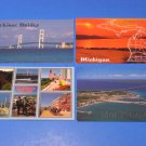 Lot of 4 Postcards of Mackinac Bridge & Michigan