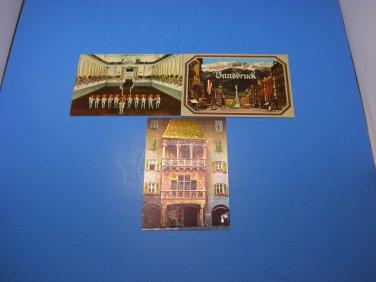 3 Innsbruck The Goldenes Dachl Austria Postcards