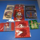 Lot of 11 NEW Gift Card Holder Envelope Sleeves + 85 Christmas Gift Stickers