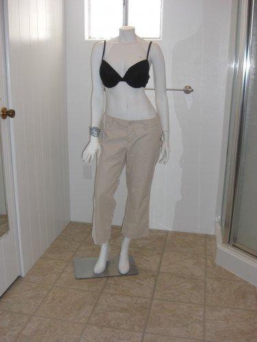 GAP Beige 100% Cotton Summer Capri Cropped Mid Rise Pants Womens NWT