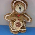 Boyds G.B. Gingerkeeper Rare Retired Gingerbread BEAR NWT