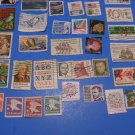50 Used US Postage Stamps Lot Of Beavertail Cactus Plus More