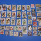 50 US Postage Stamps Lot Of State Birds & Flowers Plus More