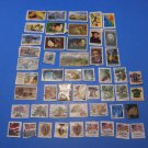 50 Used US Postage Stamps Lot Of American Novelist Poet Composer Painter