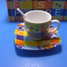FineCasa Colorful Six Pieces Espresso Boxed Set