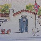 House Of Norway Watercolor Card by Juoy Houland-Sauyor