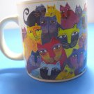 Laurel Burch 2004 Wine Things Unlimited Full Of Colorful Cats Mug