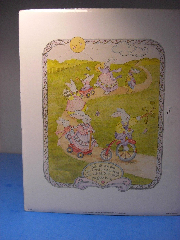 Easter Bunnies Print by Bernard Fine Art