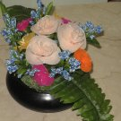 flowers in a ceramic bowl