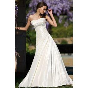 A-line Sweetheart Floor-length Sleeveless Taffeta Wedding Dresses for Bride 2009 Style (WSW0015)