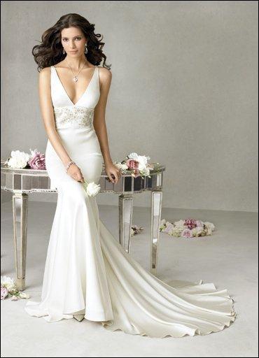 Satin  Wedding Dresses for Bride 2009 Style 0023
