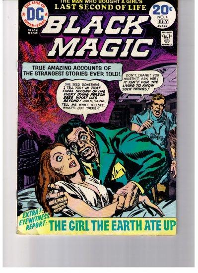 DC Super Stars Black Magic No 4 1974 The Girl The Earth Ate Up