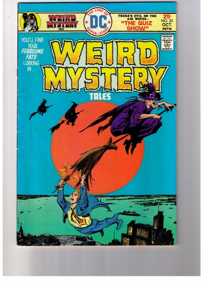 """DC Super Stars WEIRD MYSTERY TALES  No 23 1975 """"THE QUIZ SHOW"""""""