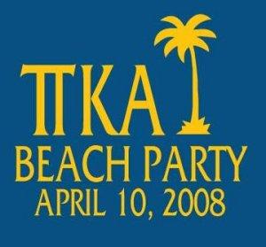 Beach Party 2008 Shirt [Small]