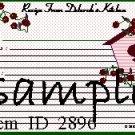 Birdhouse Recipe Card 2896