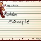 Giraffe With Tag Recipe Card 6969