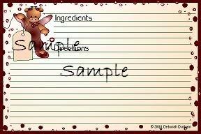 Giraffe With Tag Recipe Card 6969
