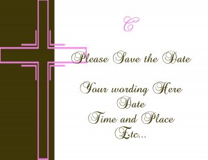 Girls Baptisms or Christening Save the dates