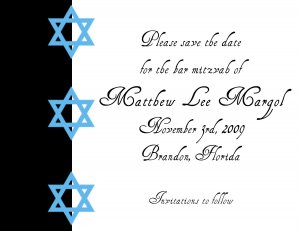 Bar Mitzvah - save the date