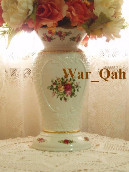 Royal Albert Old Country Roses Basketweave Cameo Vase