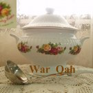 Royal Albert Old Country Roses Large Covered Soup Tureen with FREE Ladle