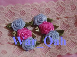 Shabby Chic Baby Blue & Powder Pink Snap Clips - Baby, Toddler, Girls
