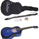 "38"" Acoustic Blue Guitar with Accessories"