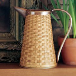 LONGABERGER Warm Brown Hostess Woven Pitcher Basket