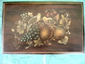 Vintage Dovetailed Painted Cedar Box