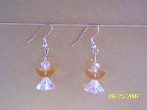 """Handmade """"Golden Angel""""  Earrings"""