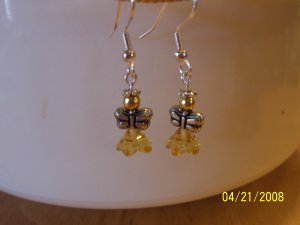 "Adorable Silver and Gold  ""Angel"" Earrings"