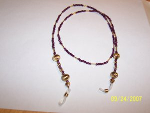Purple and Gold eyeglass holder