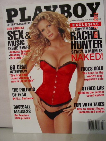 April 2004 Playboy Magazine Supermodel Rachel Hunter!!