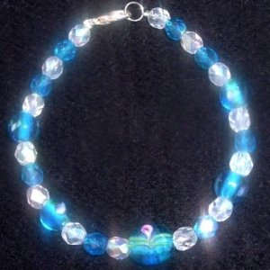 Blue Fire Polished Glass Crystals
