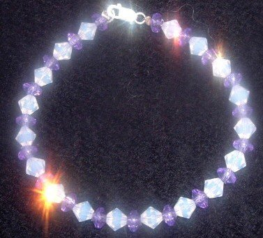 Fire Polished Glass Bracelet