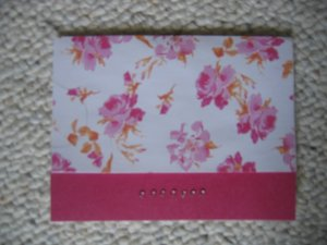 Handmade pink roses and rhinestones 5 pack