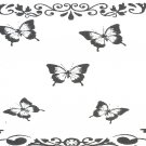 handmade card black and white with butterflies