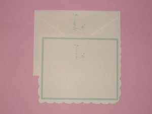 handmade monogram cards and decorated envelopes 5 pack