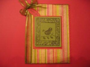 Handmade bird thank you card