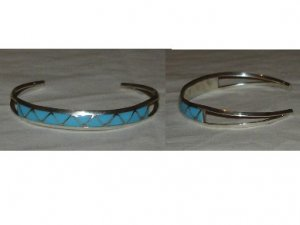 Lovely sterling silver bracelet with turquoise inlay