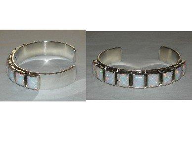FIERY OPAL on sterling silver bracelet