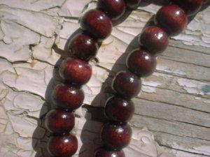 Handmade Cherry Bamboo Round Beads 7mm